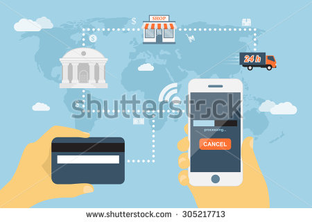 stock-vector-flat-style-concept-for-mobile-payment-using-smartphone-and-credit-card-near-field-communication-305217713