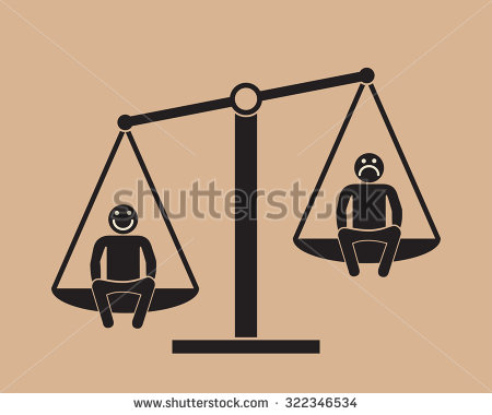 stock-vector-positive-attitude-as-advantage-two-people-on-the-scales-322346534