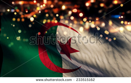 stock-photo-algeria-national-flag-light-night-bokeh-abstract-background-233515162