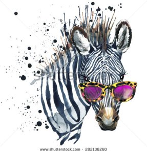 stock-photo-funny-zebra-t-shirt-graphics-funny-zebra-illustration-with-splash-watercolor-textured-background-282138260