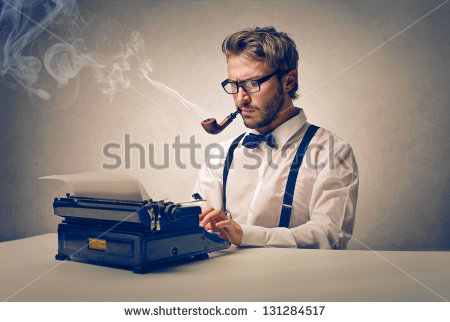 stock-photo-handsome-journalist-writing-with-typewriter-131284517