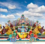 stock-photo-detail-of-sri-mariamman-temple-in-singapore-over-beautiful-blue-sky-92297857