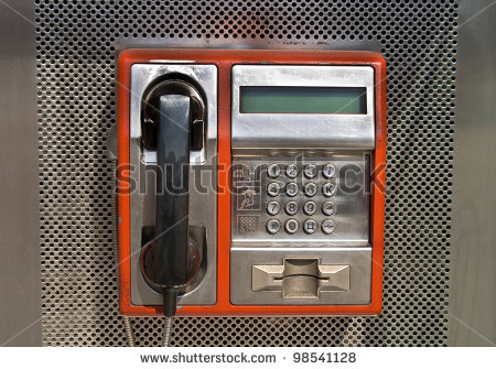 stock-photo-orange-public-telephone-on-metallic-background-98541128