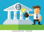 stock-vector-businessman-put-a-bomb-to-explode-the-bank-business-flat-vector-illustration-313041599