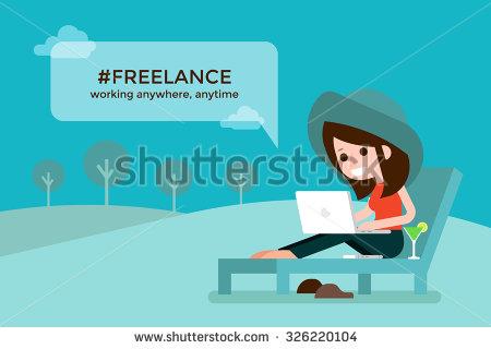 stock-vector-freelance-girl-on-beach-chair-326220104