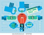 stock-vector-illustration-of-crowdfunding-concept-flat-design-background-327677831