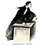 stock-vector-lawyer-vintage-engraved-illustration-les-fran-ais-by-l-curmer-in-france-87754135