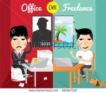 stock-vector-office-or-freelance-300307310