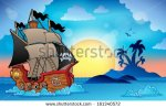 stock-vector-pirate-ship-near-small-island-eps-vector-illustration-161340572