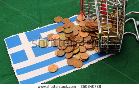 stock-photo-little-shopping-cart-full-of-coins-euro-toppled-over-flag-of-greece-250840738