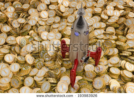 stock-photo-rocket-standing-on-a-lot-of-bitcoins-193983926
