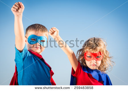 stock-photo-superhero-children-against-summer-sky-background-kids-having-fun-outdoors-boy-and-girl-playing-259463858