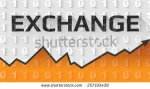 stock-vector-cryptocurrency-exchange-text-banner-257193439