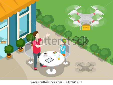 stock-vector-drone-quadcopter-delivery-online-product-store-concept-flat-d-web-isometric-infographic-vector-248941951