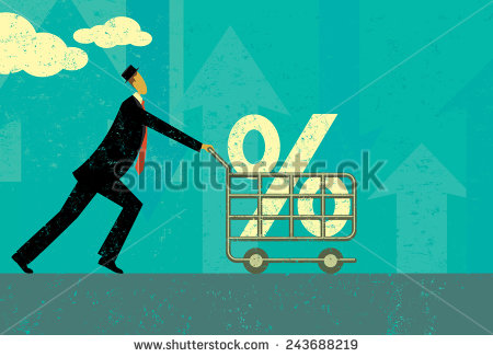 stock-vector-interest-rate-shopping-a-man-shopping-for-a-good-interest-rate-percentage-the-man-and-shopping-243688219