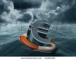 stock-photo-illustration-of-a-euro-symbol-being-saved-from-stormy-weather-131865383