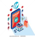 stock-vector-flat-d-isometric-modern-design-mobile-payment-online-shopping-and-e-commerce-concept-248048305