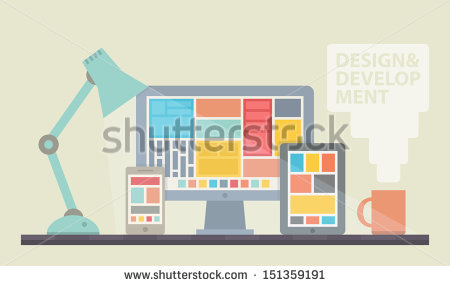 stock-vector-flat-design-vector-illustration-of-mobile-and-desktop-website-design-development-process-with-151359191