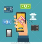 stock-vector-mobile-payment-via-smartphone-online-banking-shopping-wallet-e-commerce-flat-design-vector-230236801