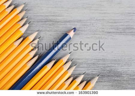 stock-photo-celebratory-pencil-among-usual-pencils-on-color-background-163901390