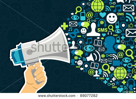 stock-vector-hand-holding-a-megaphone-promotion-social-media-icons-on-blue-background-vector-file-available-89077282