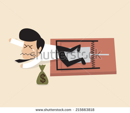 stock-vector-businessman-is-caught-by-a-mouse-trap-215663818