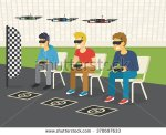 stock-vector-quadrocopter-racing-competition-new-sport-flat-illustration-of-three-guys-wearing-glasses-to-370697633
