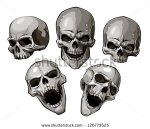 stock-vector-set-of-skulls-vector-illustration-126779525