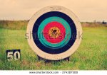 stock-photo-archery-target-on-the-field-274387508