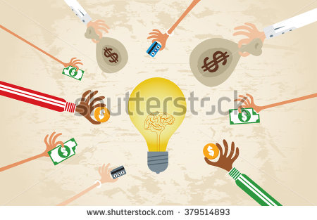 stock-vector-crowdfunding-concept-with-hands-holding-money-to-give-their-support-around-brain-light-bulb-idea-379514893