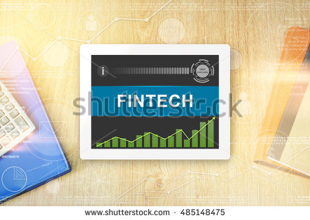 stock-photo-fintech-or-financial-technology-word-on-tablet-with-soft-light-vintage-effect-485148475